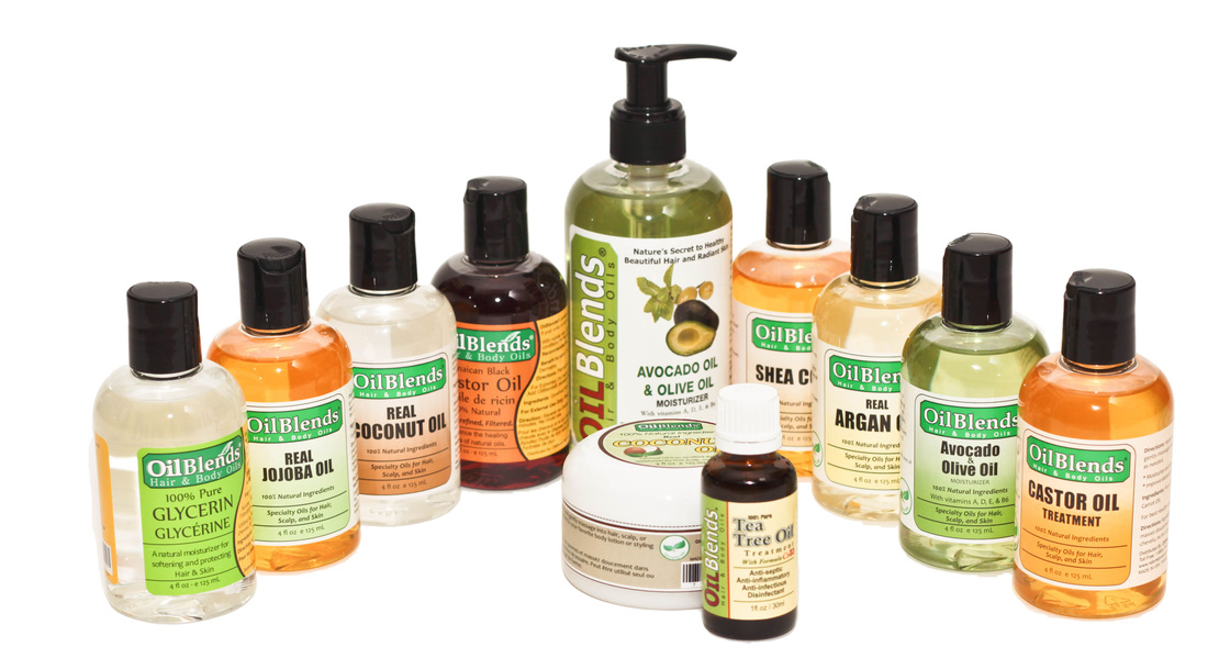 OilBlends® Premium Quality Natural Oils & Butters for Hair Scalp, and Skin