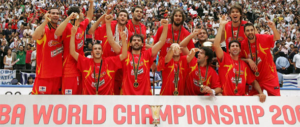 Picture of World Champion Spain team
