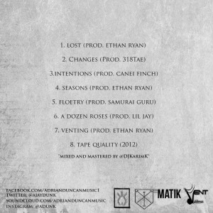 Tape quality Tracklist